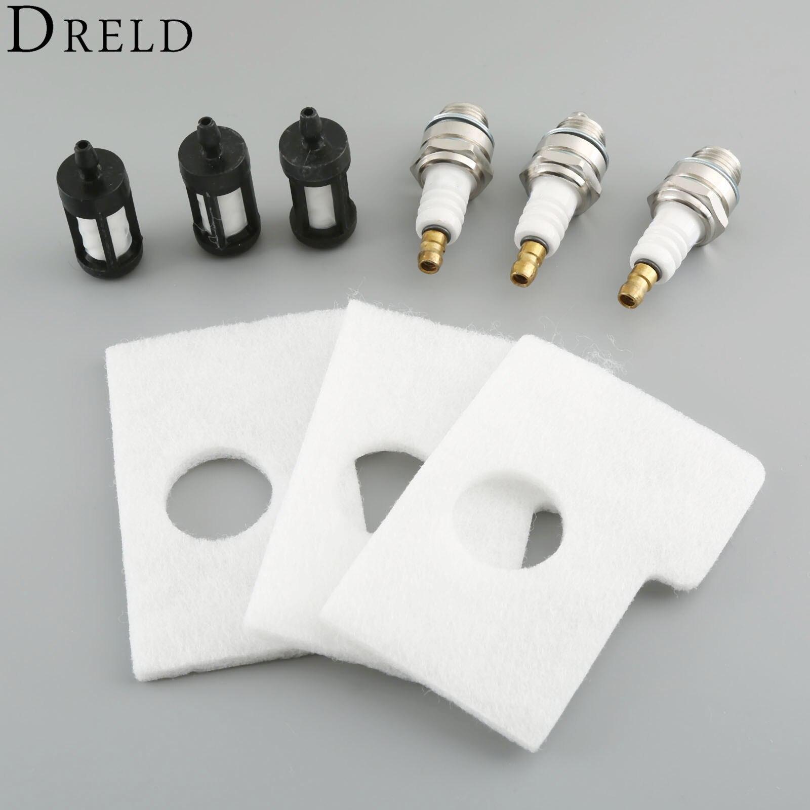 dreld 9pcs/set air fuel filter spark plug kit for stihl ms180 ms170 018 017