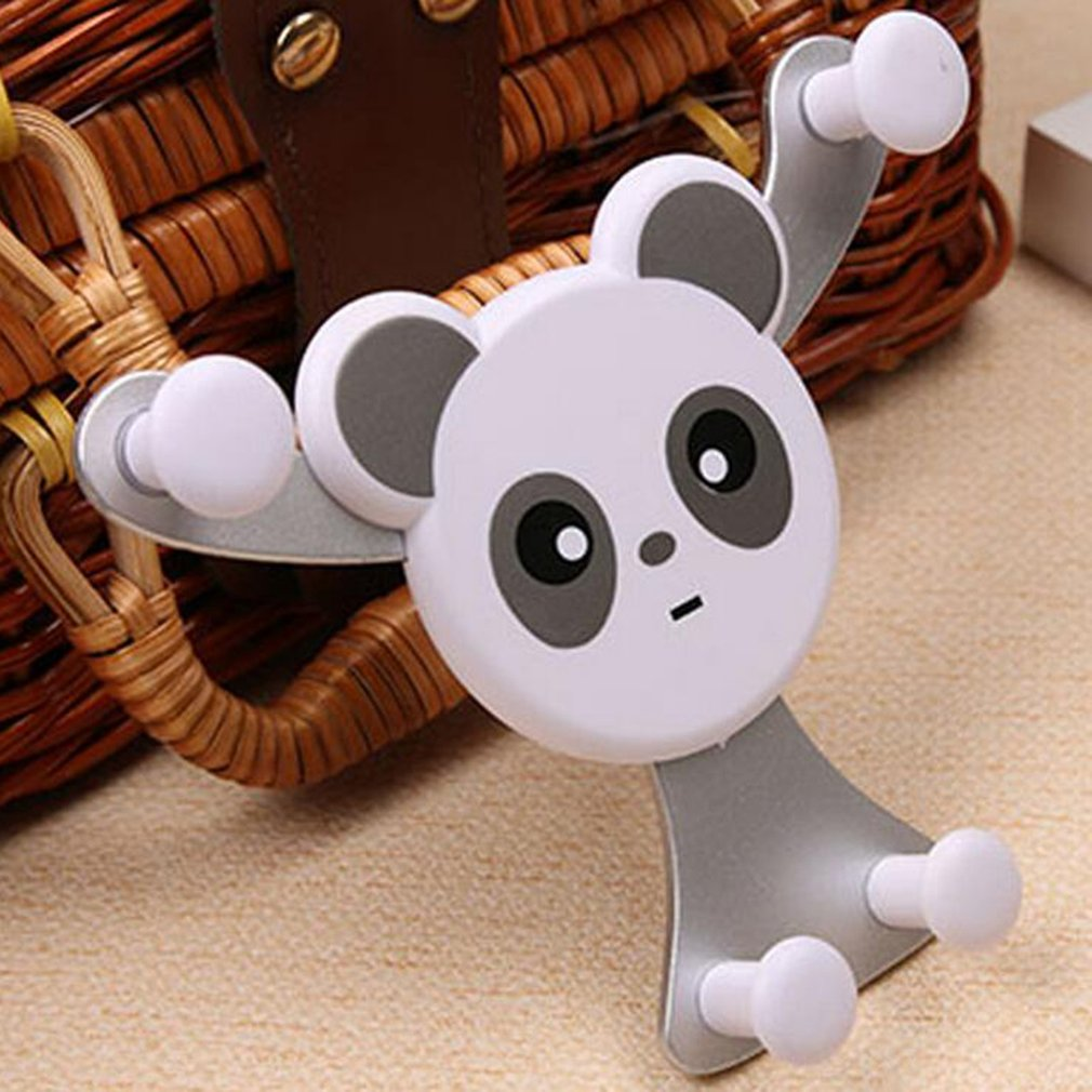 Universal Panda Bear Car Phone Holder Air Outlet Mount Bracket Gravity Sensing Stand Snap-type Phone GPS Navigation Holder(China)