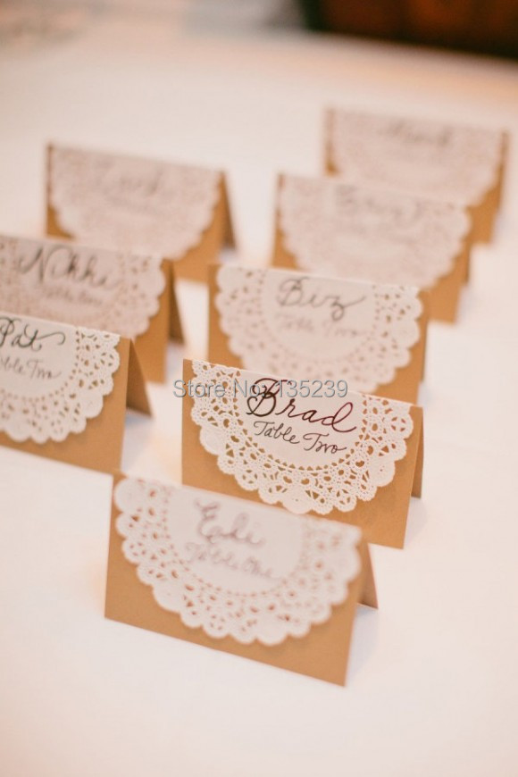 50pcs,Wedding Name Place, Table, Or Escort Cards, Shabby
