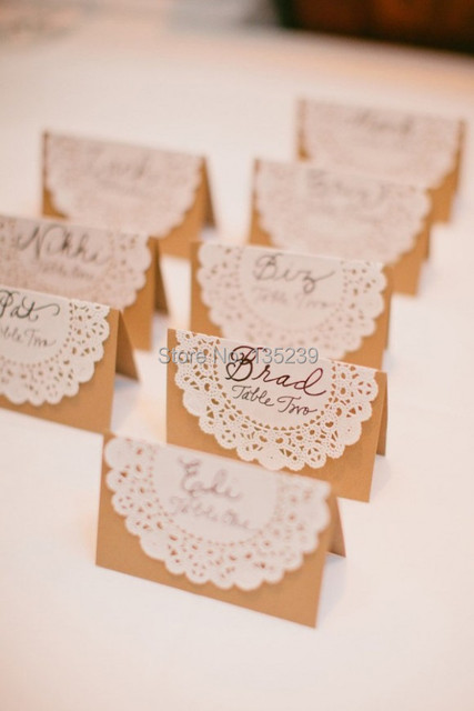 50pcs,Wedding Name Place, Table, or Escort Cards, Shabby Chic ...