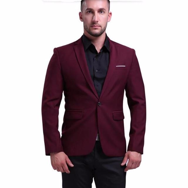 Abito Matrimonio Uomo Rosso : Hb su misura plus size abiti da uomo giacca one button vino