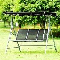 Giantex 3 человек террасе качалками Bench навес открытый качалке порошковой краской мебель OP3538
