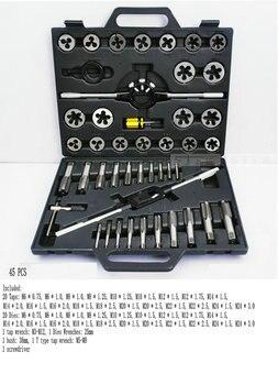 Taps Banya Hardware Tools / hand tapping wrench Banya cutter hand / 45PCS