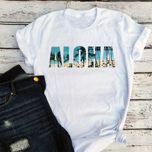 aloha shirts ohana plus size graphic t womens tee 90s white top vintage tees woman harajuku tops streetwear