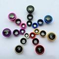 Clip On 180 Degree lente de ojo de pescado + 0.65X gran angular + 10X lente Macro 3 en 1 lente de la cámara para el iPhone 6 6 s Plus 5 5S 4 4S para Samsung