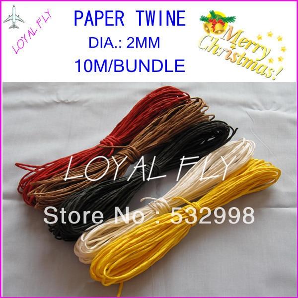 Cuerda de rafia de papel de 10 colores (10 m / paquete) 60pcs / lot, - Para fiestas y celebraciones - foto 3