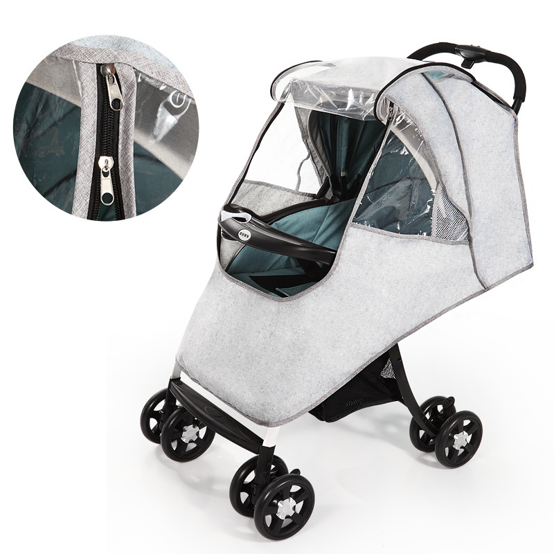Baby Stroller Accessories Universal Waterproof Rain Cover Wind Dust Shield Zipper Open For Baby Strollers Pushchairs