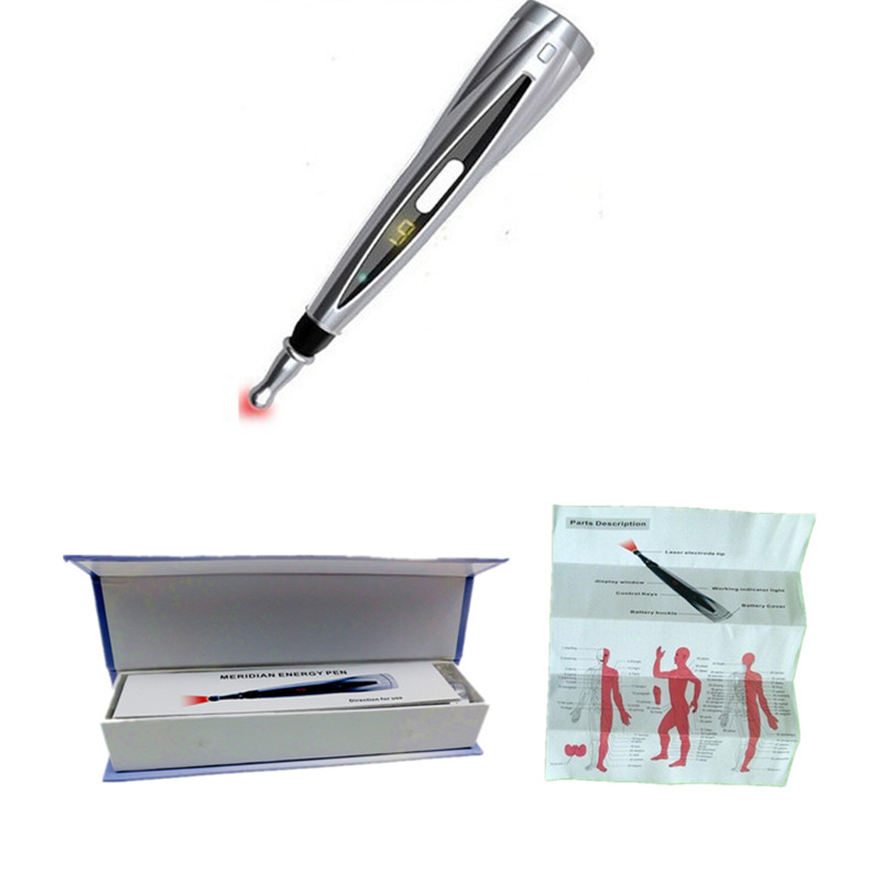 Meridian Energy Pen Laser Elektronisk Akupunktur Pulse Analgesi Therapy Machine Body Massager Antistress Joints Pain Relief