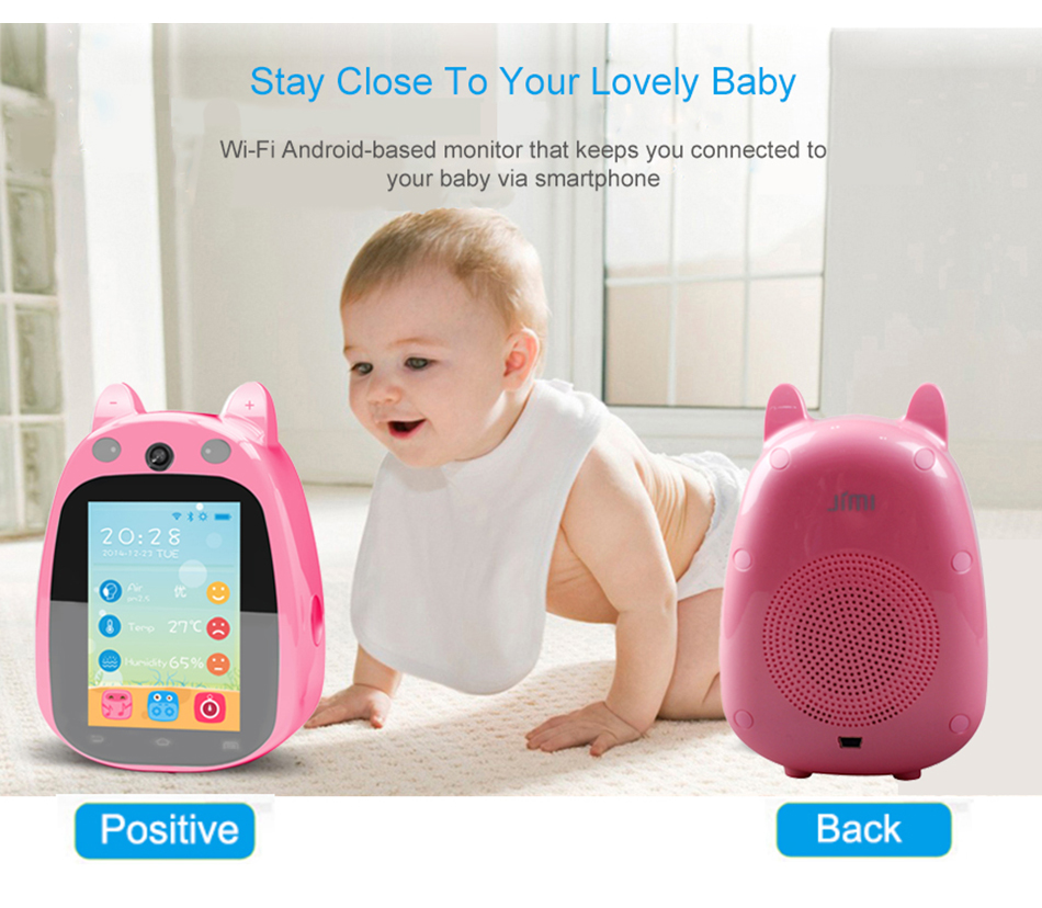 ФОТО Jimi JH168 Baby Monitor Cute IP Camera 3.5 Inch Screen Wifi HD CCTV Wireless 1.0MP P2P Support APP Remote Control Surveillance