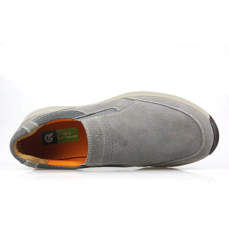 Véritable 2018 on En Doux Gris Respirant De Gray Slip Chaussures Hommes Cuir Bateaux Mocassins Mode Appartements Marque Nouvelle XOnA0wqOr