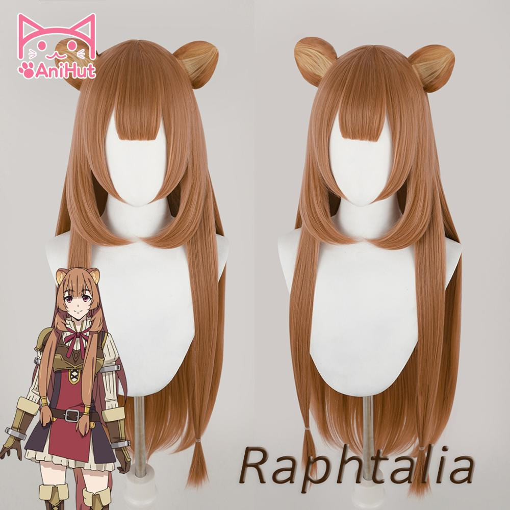 Anihut Tate No Yuusha No Nariagari Raphtalia Cosplay Wig With EARS Straight Brown Wig The Rising Of The Shield Hero Cosplay Wig