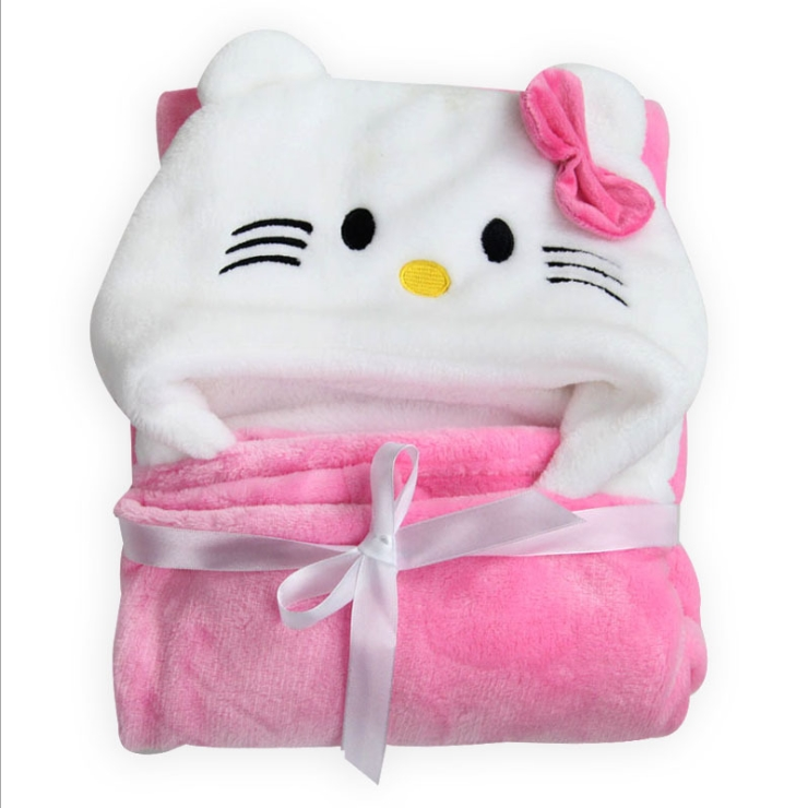 mode tecknad djurstil baby hooded badrock hög kvalitet Super mjuka spädbarn badhandduk badklädsel barn badlakan