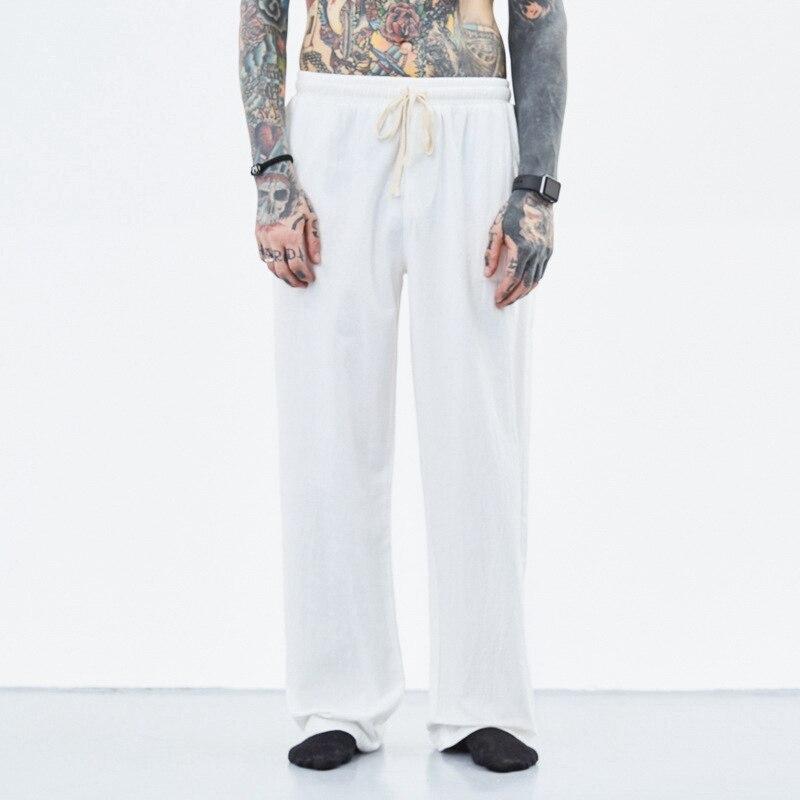 Image 5 - summer spring men vintage pants cotton plus size 7XL 8XL 9XL 10XL  casual home chinese japan style khaki Comfortable pants blue  -