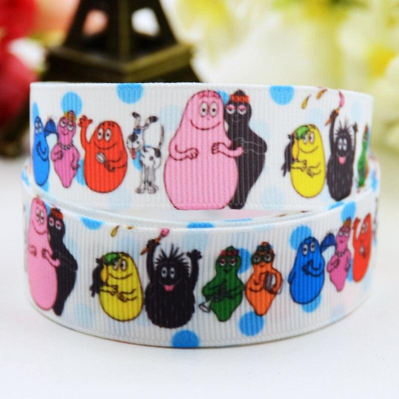 1x Metre 22mm Minion Birthday Cartoon Grosgrain Ribbon Party Cake Crafts