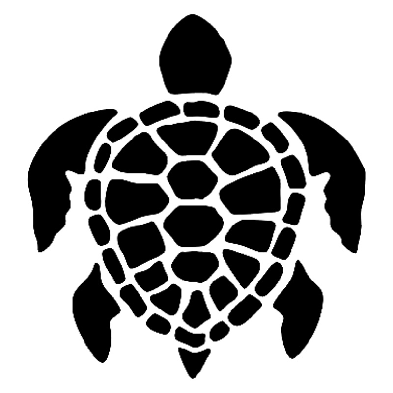 12 8cm13 8cm honu sea turtle fashion car styling vinyl car sticker black
