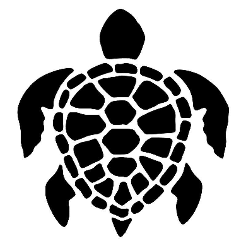 12 8cm13 8cm honu sea turtle fashion car styling vinyl car sticker black