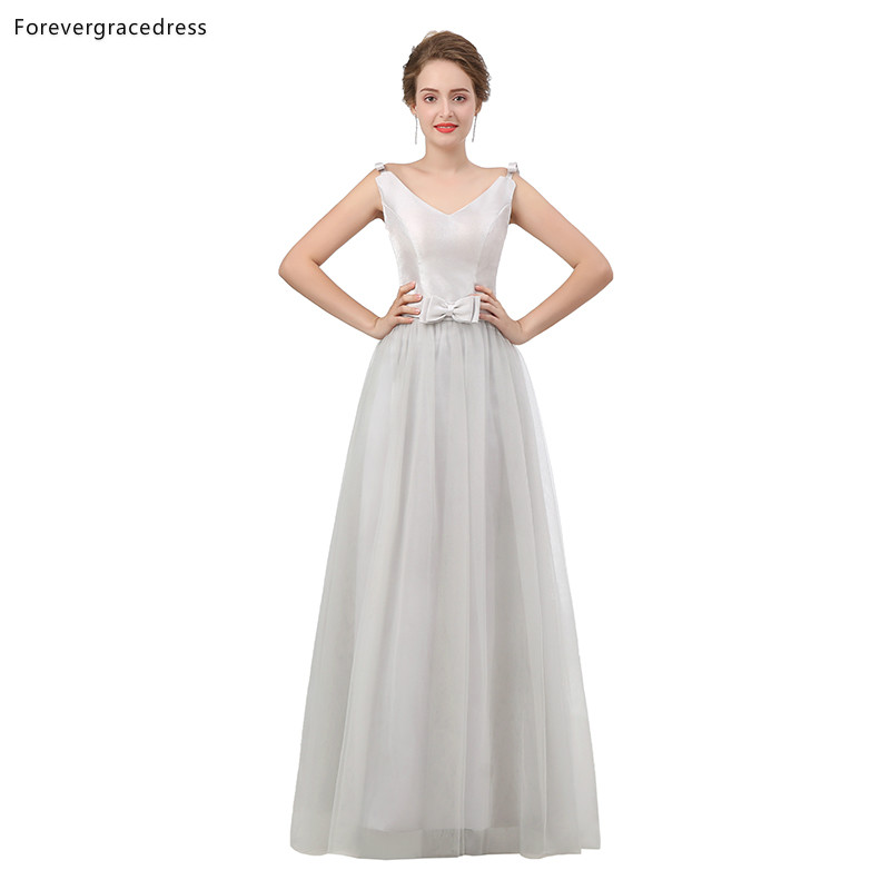 US $84.66 49% OFF|Forevergracedress White Bridesmaid Dresses 2019 A Line  Sleeveless Wedding Party Guest Maid of Honor Gowns Plus Size Custom Made-in  ...