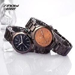 SINOBI Luxury Wrist watches Top Brand Fashion Watch Men Watch Stainless Steel Men's Watch Clock saat relogio masculino reloj