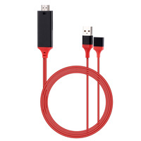 1M OTG USB To HDMI HDTV Adapter Cable Charger Universal For IPhone Samsung Huawei Xiaomi LG