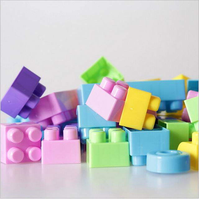 135 unids gran tamaño abs ladrillos diy creativo de los niños juguetes educativos bloques de construcción ladrillos de seguridad de alta calidad