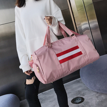 Купить с кэшбэком Women Nylon Travel Bags High Quality Brand Large Capacity Hand Luggage Pink Traveling Bag Weekend Travel Duffle Bag Handbag Tote