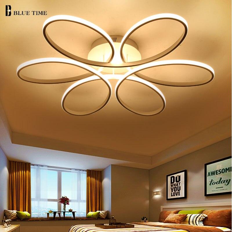 Simple Moderne LED Lustre Pour Salon Chambre Accueil Calendrier AC110V 220 v Led Plafond Lustre Éclairage Lampara de techo