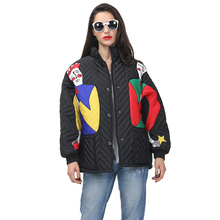 [TWOTWINSTYLE] 2016 winter print jacket women down coats long sleeves female parka new fashion clothing