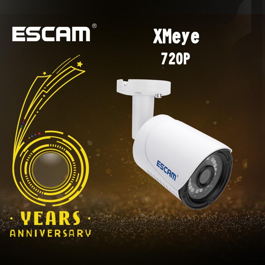 Escam IP Camera QE07 HD 720P 1MP CMOS Outdoor Infrared Bullet Waterproof Day/Night Onvif P2P POE Surveillance CCTV Camera