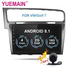 YUEMAIN автомобиля Радио мультимедийный плеер для VW/Volkswagen/Гольф 7 2Din Android 8,1 автомобильное радио с GPS навигации OBD DVR Wi Fi сзади камера