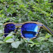 Echt wilde hölzerne sonnenbrille handgefertigten bunte holz rahmen polarisierte sonnenbrille männer mode driving sunglass oculos feminino W901