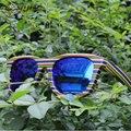Verdadera naturaleza de madera gafas de sol de colores hechos a mano de madera marco polarizado gafas de sol hombres conducción gafas de sol de moda oculos feminino W901