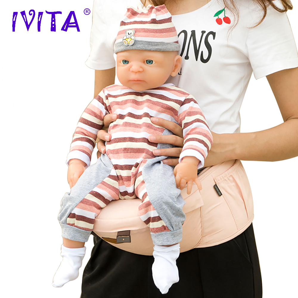 IVITA WG1511 54cm 4.9kg Jente Full Body High Quality Silicone Reborn Dolls Baby Født Alive Bath XMAS Gave Leker For Kids