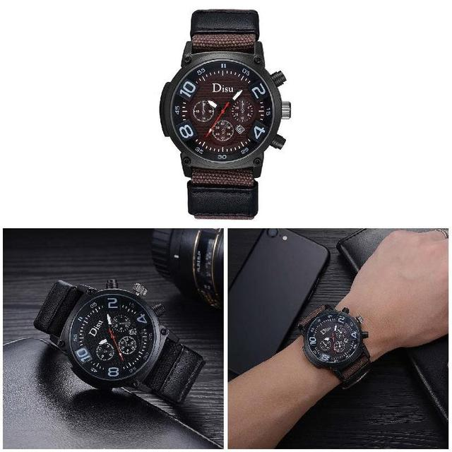 Simple Fashion Man Casual Watches Cloth Strap Wristwatch Circular Dial  Clock Business Men Quartz Watch LL@17-in Quartz Watches from Watches on