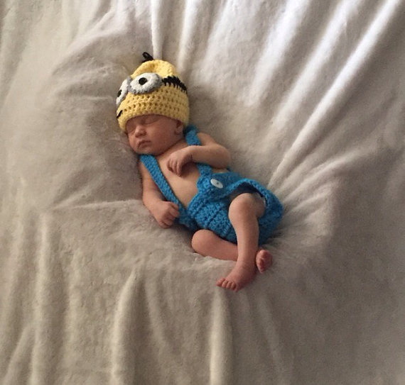 Newborn Baby Girl Boy Unisex Minions Hat Suspenders Baby Photography Prop Crochet Knitted Costume  sc 1 st  AliExpress.com & Newborn Baby Girl Boy Unisex Minions Hat Suspenders Baby Photography ...