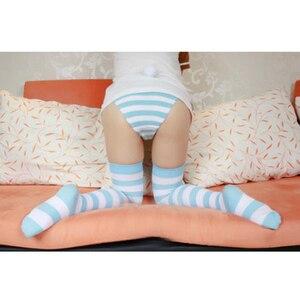 Image 2 - على بيع لطيف أنيمي تأثيري المرأة لوليتا الإفراط في الركبة واسعة شريط 100% جوارب القطن الفخذ عالية طويلة حجم S & L 10 ألوان
