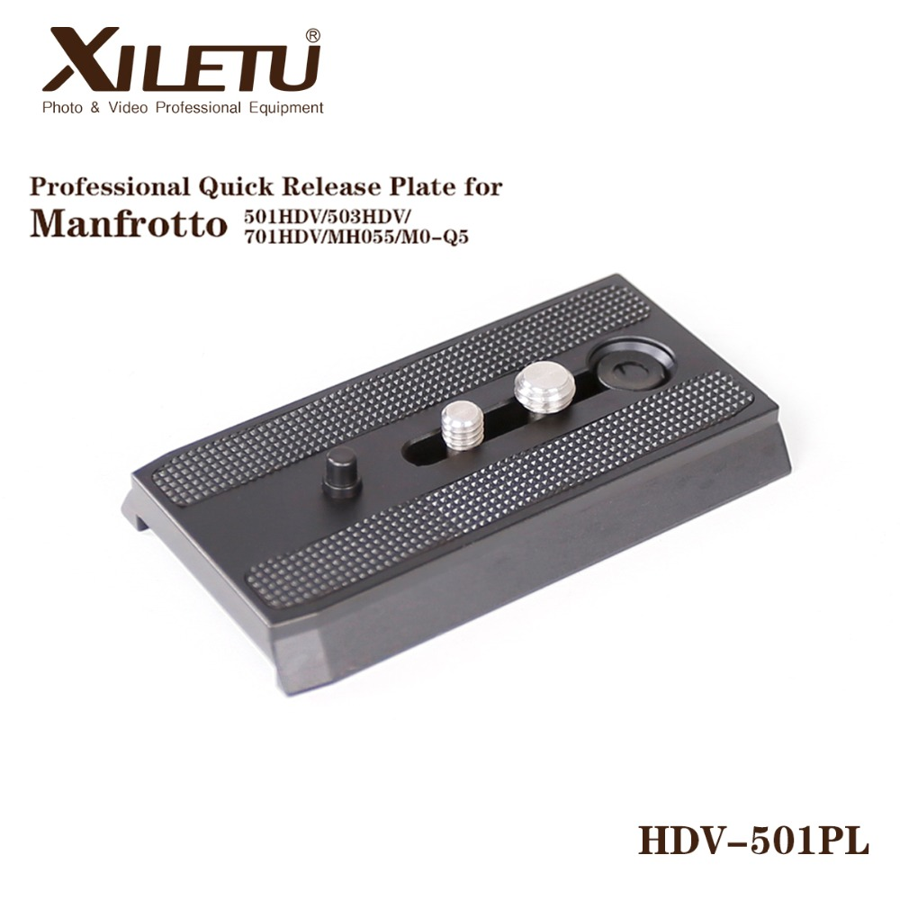 XILETU HDV-501PL Rapid Sliding Mounting Bracket Quick Release Plate For Manfrotto 501HDV 503HDV 701HDV MH055M0-Q5 ...