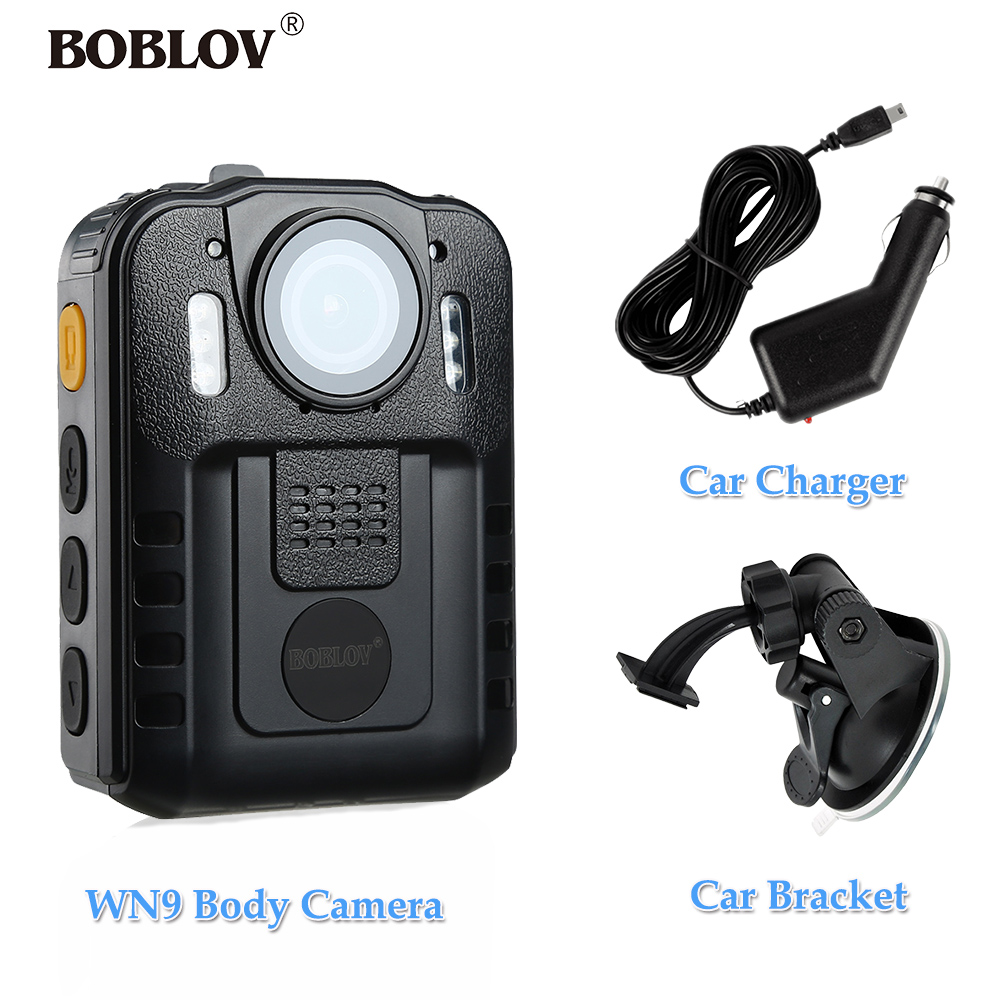 BOBLOV WN9 Body Cam Night Vision 170 Degree Wide Angle 1296P Mini HD Camera espia Video Camcorder With Car Charger and Bracket