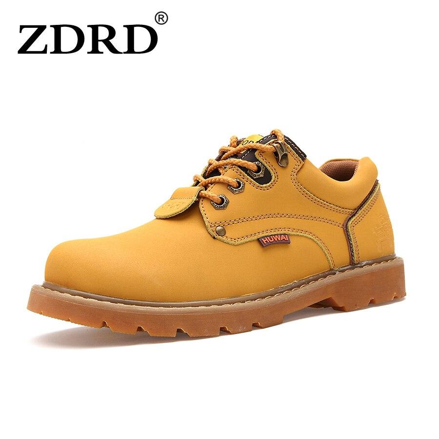 2016 Genuine Leather Autumn Winter Warm Men Boots Comfortable Winter Boots High Quality Leather Boots Men