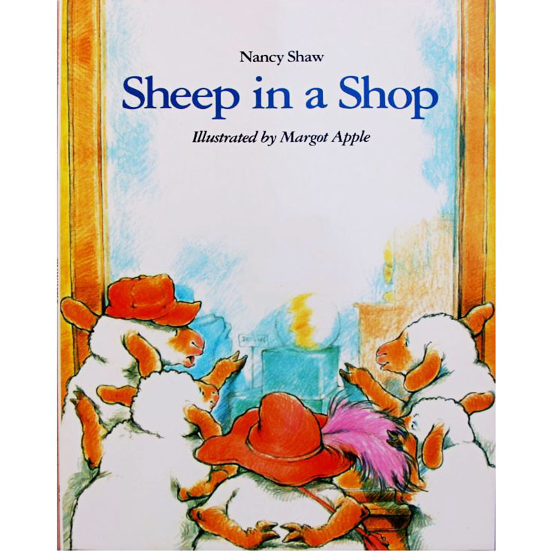 Sheep In A Shop By Nancy E. Shaw Educational English Picture Book Learning Card Story Book For Baby Kids Children Gifts