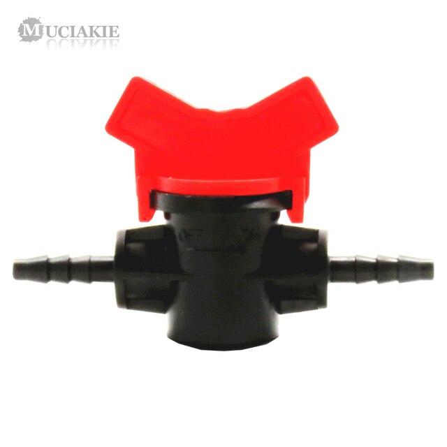 MUCIAKIE 1 PZ 4/7mm Valvola 1/4 ''Acqua Barb Giardino Irrigazione Tubo Acqua 4/7