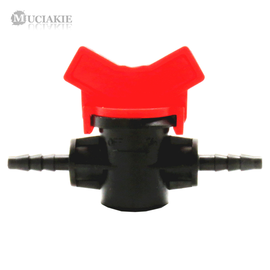 MUCIAKIE 1PC 4/7mm Irrigation Water Hose Valve 1/4'' Water Barb Garden 4/7 Tap Hose Connector Sprinkle Drip Irrigation Fittings