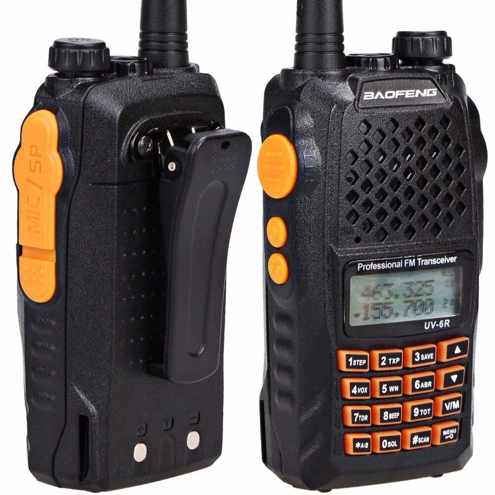 2pcs Baofeng UV-6R Walkie Talkie 7 watts Dual band Two Way Radio Pofung UV6R  HF Transceiver telsiz UV 6R Ham cb Radio station 2