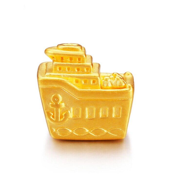 999 Solid 24K Yellow Gold Pendant 3D Yacht Bracelet 0.97g999 Solid 24K Yellow Gold Pendant 3D Yacht Bracelet 0.97g