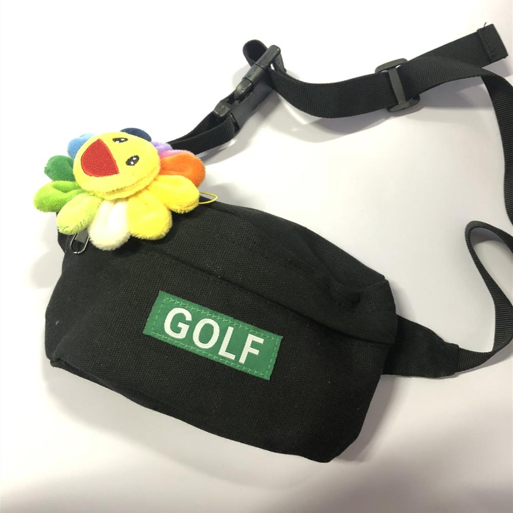 Brand New Hot Novelty Tyler The Creator Golf Golf Le Fleur Shoulder Bag Side Bag Waist Hip Fanny Packs Pack 23*18 Cm #088