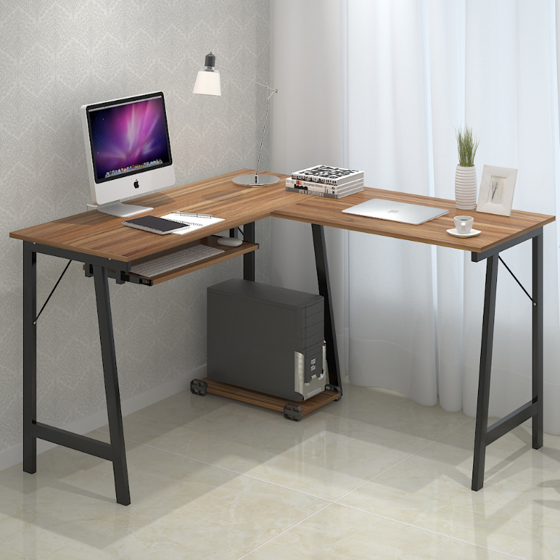 Simple Home Desktop Computer Desk Double Modern Minimalist Corner Tables In Desks From Furniture On Aliexpress