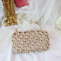 RADISH Socialite Feather Shape Crystal Sparkling Silver Evening Handbags Bridal Wedding Party Diamond Clutch Bag