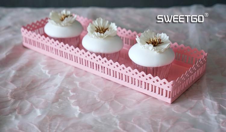 Cupcakes Rosa Branco Decoração Presente Fofo Gatos Acessório De Mesa Padrão de montanha-russa