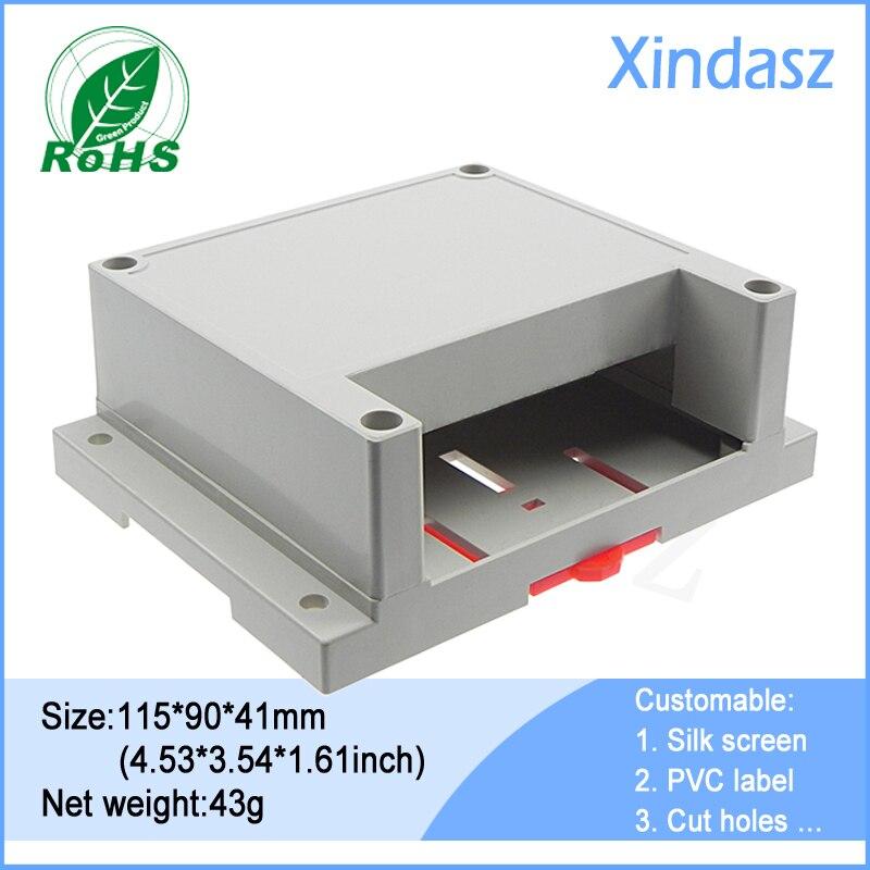 plastic box electronics 115*90*41mm din rail mount enclosure plastic box enclosure eletronic