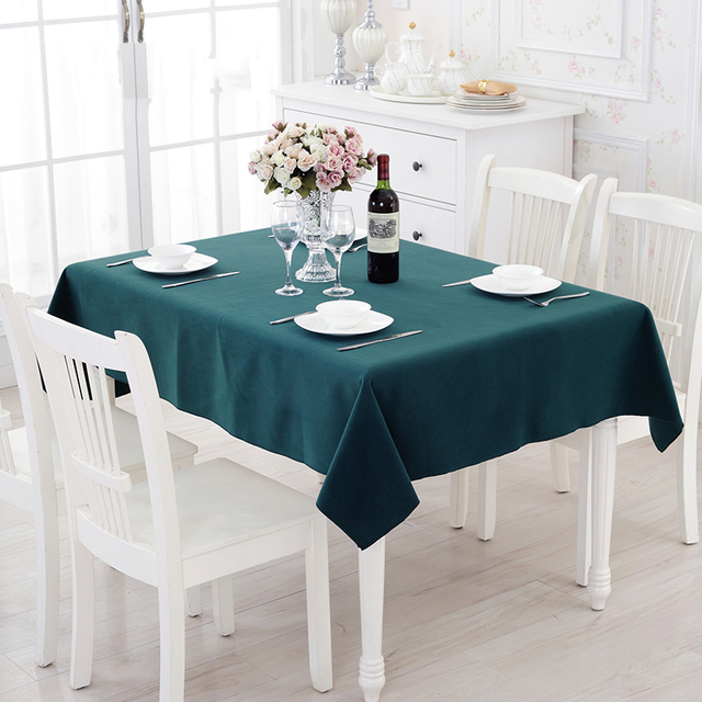 Good 4 Color Modern Simplicity Solid Color Tablecloths Restaurant Banquet Coffee Table  Cloth Restaurant Rectangular Fast Shipping