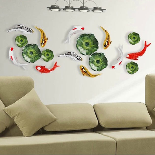 Американская трехмерная имитация зеленого растения Настенные вешалки креативная гостиная дома веранды, коридора украшение из кованого же... - 2